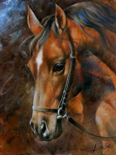 картины лошадей маслом: